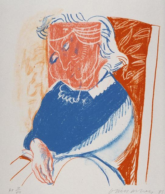 , 'Portrait of Mother II (No.20 of 20) Signed by David Hockney. Very small edition size,' 1985, Mr & Mrs Clark's