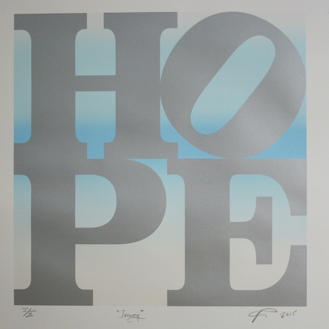 , 'HOPE January (silver over white pearl-lt blue-white pearl blend) ,' 2015, Contini Art Gallery