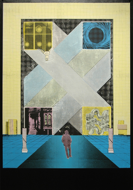 Gwenaël Rattke, 'Lonely Avenue', 2012, Painting, Acrylic and silkscreen with hand working on museum board, Romer Young Gallery