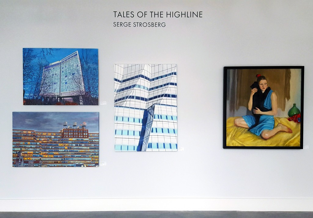 """The Standard Hotel"", ""The Starrett-Lehigh Building"", ""The IAC Building"" and ""Femme au Chat"" by Serge Strosberg"
