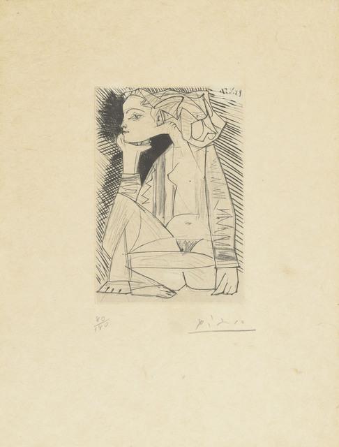 Pablo Picasso, 'Femme assise en tailleur: Geneviève Laporte', 1951, Christie's