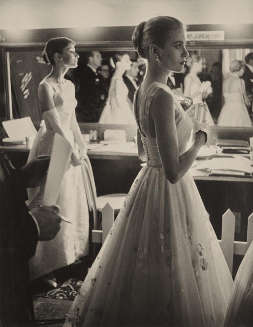Allan Grant, 'Audrey Hepburn and Grace Kelly backstage at the 28th Annual Academy Awards, Hollywood, CA', 1956, Phillips
