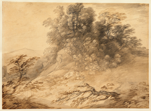, 'Landscape with a Clump of Trees on a Hillock,' Early 1760s, Clark Art Institute