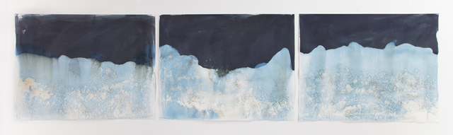 , 'Littoral Drift #547 (Triptych, Atlanta, GA, 06.13.17, Confluence of Chattahoochee River and White Water Creek, Run Over by Dog),' 2017, Jackson Fine Art