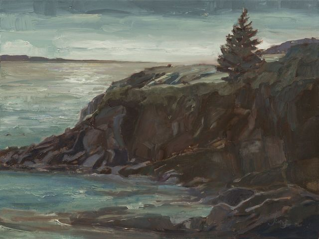 , 'Moonrise in Blue and Silver ~ Casco Bay, Harpswell, ME,' 2018, The Guild of Boston Artists