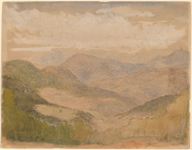 Stanford White, 'Blue Ridge Mountains', ca. 1898, Drawing, Collage or other Work on Paper, Watercolor and gouache with pen and brown ink on wove paper, National Gallery of Art, Washington, D.C.