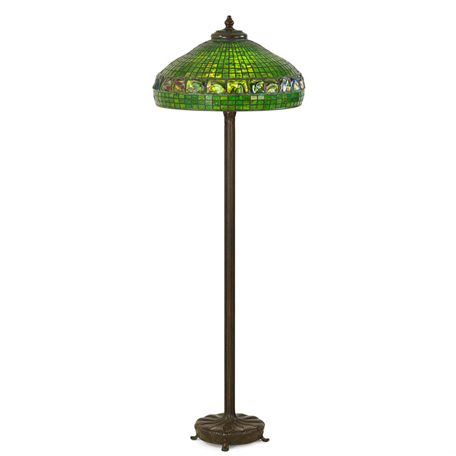 Tiffany Studios, 'Junior Floor Lamp Base With Fine Turtleback Shade, New York', Early 20th C., Rago/Wright