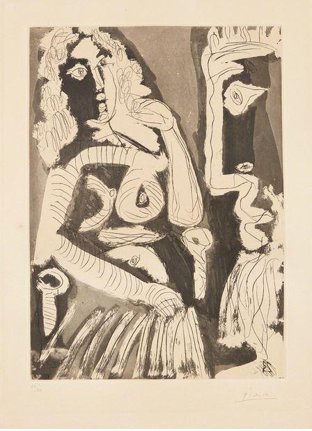 , 'Le modèle au repos dans un fauteuil,' 1965, Galerie Montmartre
