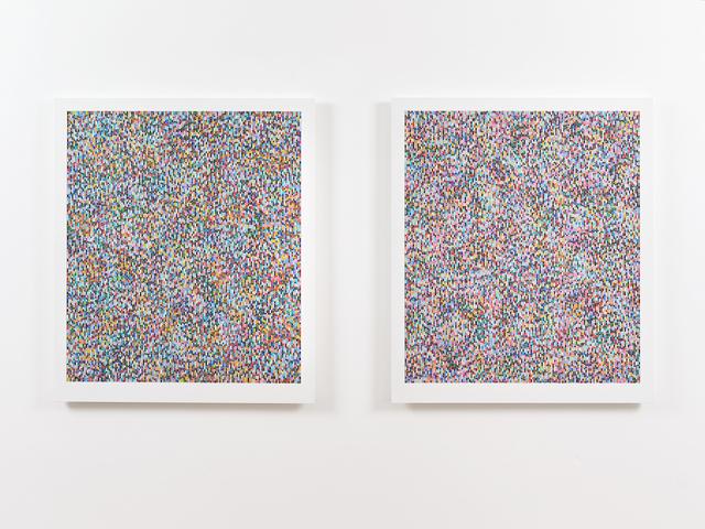 , 'Binary Rhythm Variant I & II,' 2014, Ingleby Gallery