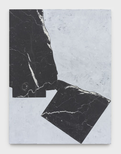 Sam Moyer, 'Boarder Lord', 2020, Painting, Marble and hand painted canvas mounted to MDF, Sean Kelly Gallery