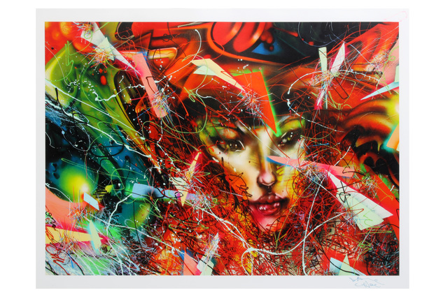 David Choe, 'Toxic LA Sunsets And The Dirty Moon Hangs Like A Filthy Fingernail', 2011, Chiswick Auctions