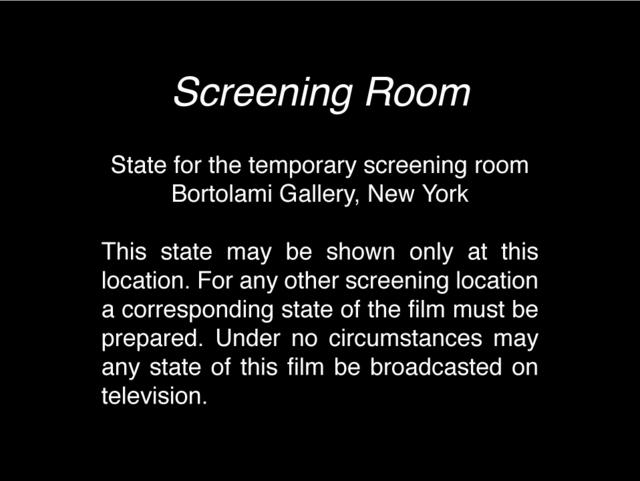 , 'Screening Room ,' 1968, Bortolami