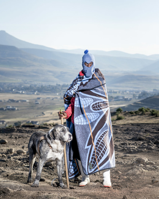, 'HORSEMEN OF SEMONKONG, Thapelo Moiloa with his dog,' 2016, ARTCO Gallery
