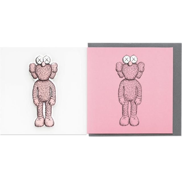 KAWS, 'KAWS x NGV BFF Greeting Card with Puffy Sticker (Pink)', 2019, Curator Style