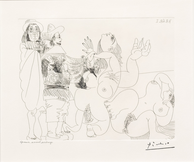 Pablo Picasso, 'Jeune Seigneur Fantoche..., from the 347 Series', 1968, Leslie Sacks Gallery