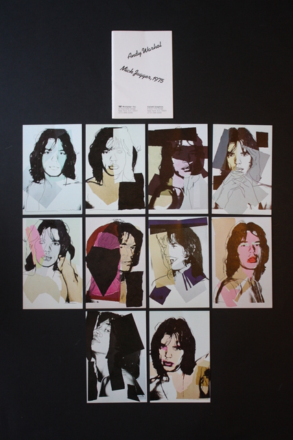 Andy Warhol, 'Mick Jagger Postcards (Set of 10)', 1975, Lougher Contemporary