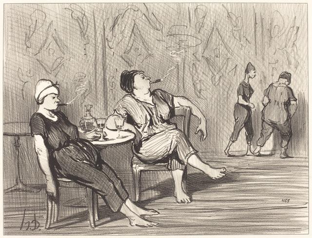 Honoré Daumier, 'A la buvette', 1847, National Gallery of Art, Washington, D.C.