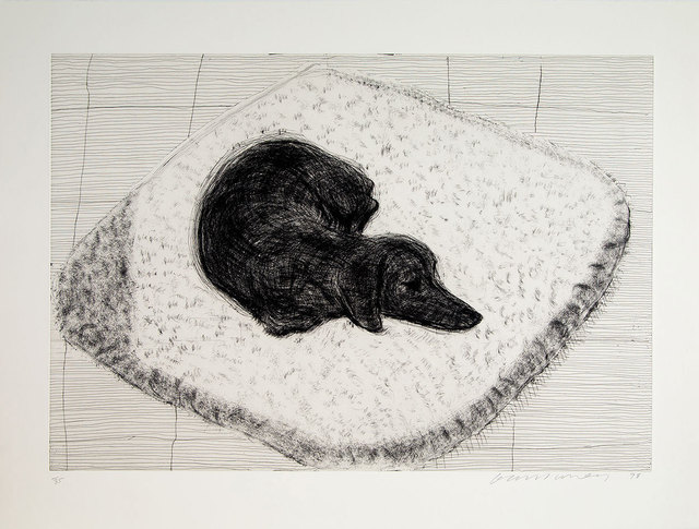 David Hockney, 'Dog Etching No. 1 from Dog Wall', 1998, Galerie Maximillian