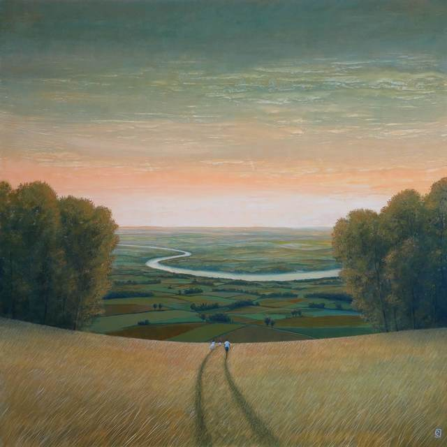 Philippe Charles Jacquet, 'En chemin', Painting, Oil on board, Hugo Galerie