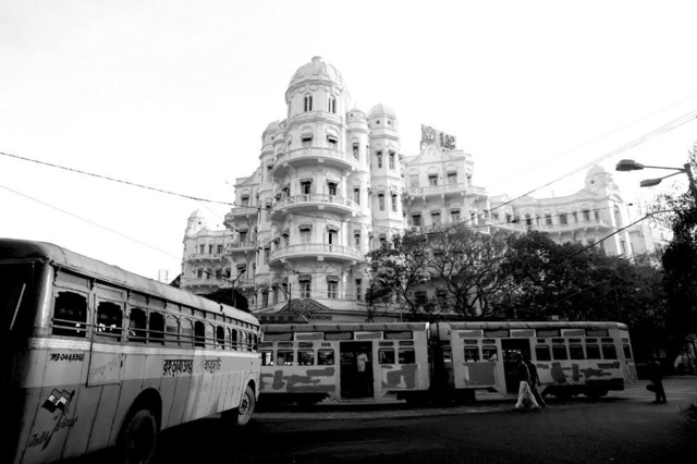 , ''Trams & mansion', Colonial period, Calcutta,' 2013, Sundaram Tagore Gallery