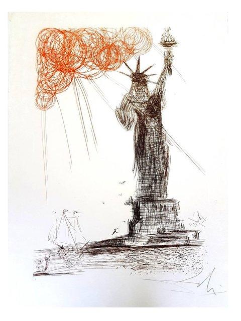 "Salvador Dalí, 'Original Etching ""New-York : Statue of Liberty"" by Salvador Dali', 1964, Galerie Philia"