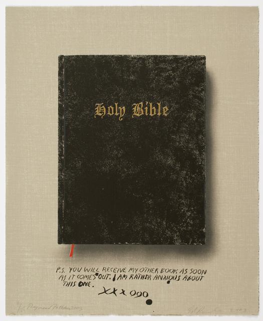 , 'Holy Bible (State I),' 2003, Brooke Alexander, Inc.