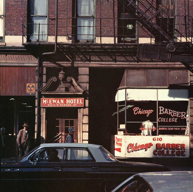 Mario Carnicelli, 'Barber College, Chicago', 1966, Photography, 2021 Super Chromogenic print, David Hill Gallery
