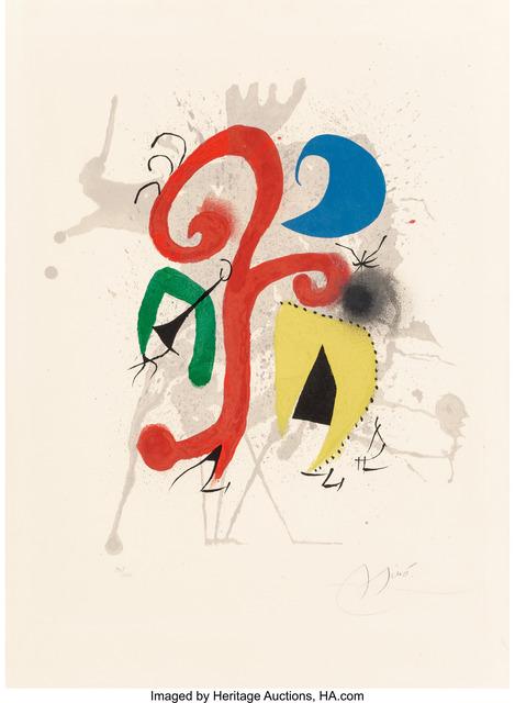Joan Miró, 'Jardin au clair de lune (Hommage a Teriade)', 1973, Heritage Auctions