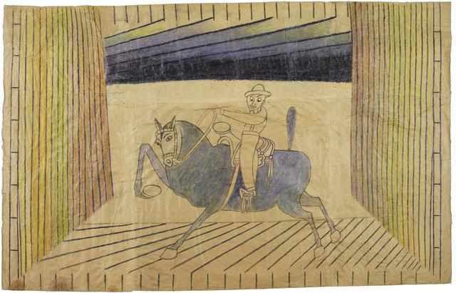 , 'Untitled (Caballero on Blue Horse),' c. 1952-55, Robert Berman Gallery