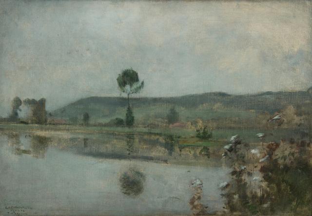 , 'River under the Hills at Arques-la-Bataille,' ca. 1884, Thomas Colville Fine Art