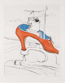Salvador Dalí, 'La Malediction Vaincue from Apres 50 Ans du Surrealisme', Print, Drypoint, Dallas Museum of Art