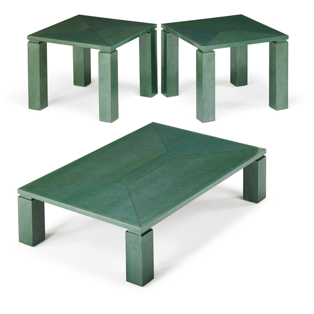 Attributed to Karl Springer, 'Three Tables, New York', 1980s, Rago/Wright