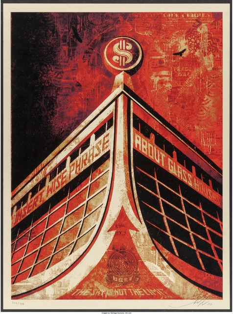 Shepard Fairey (OBEY), 'Glass House Canvas', 2010, Heritage Auctions