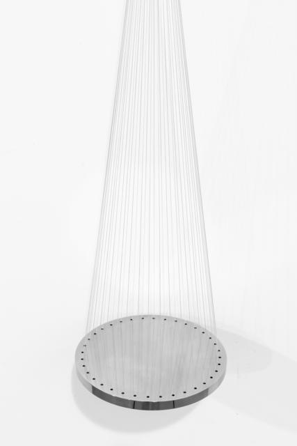 Artur Lescher, 'Graça #2', 2018, Sculpture, Stainless steel and gray multifiliament, OMR