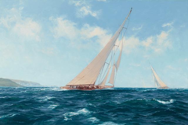 John Steven Dews, 'Velsheda beating to Windward off the Needles', 21st Century, Painting, Oil on canvas,  M.S. Rau