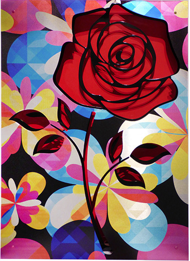 , 'Crush- Rose on red,' 2017, FP Contemporary