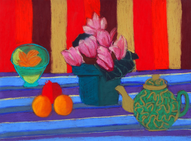 , 'Cyclamen with Teapot,' , Wallace Galleries