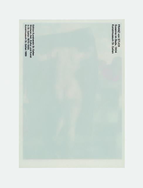 Claudia Angelmaier, 'Susanna im Bade', 2009, Galerie Kleindienst