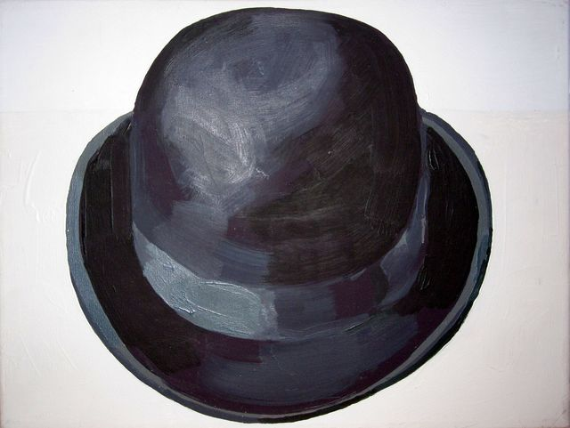 , 'Black Bowler Hat (Front View),' 1988, Hal Bromm