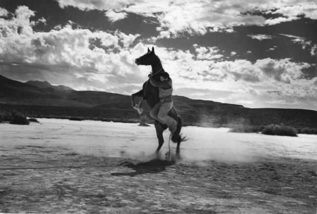 , 'Cowboy and leaping horse on the set of the Misfits,' 1960, Les Douches La Galerie