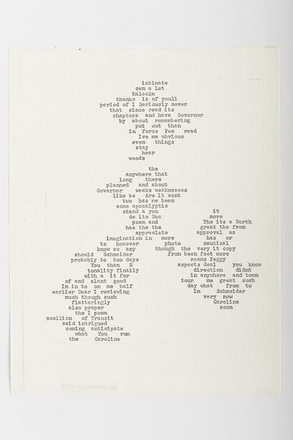 Carl Andre, 'Intimate', 1963, Alfonso Artiaco