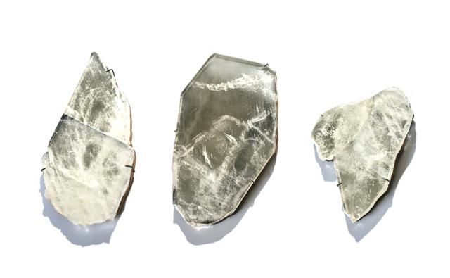 Study O Portable, 'Quartz mirror', 2011, Design/Decorative Art, Quartz crystal, silver, wood, Caroline Van Hoek