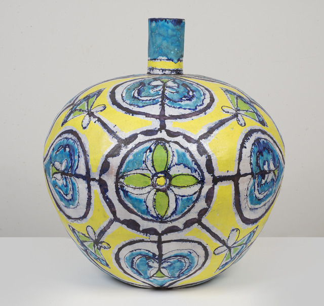 , 'Large Round Turquoise and Yellow Bottle,' 2013, SEASON