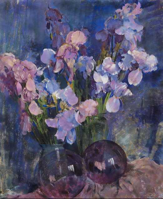 , 'Purple Irises,' , Avery Galleries