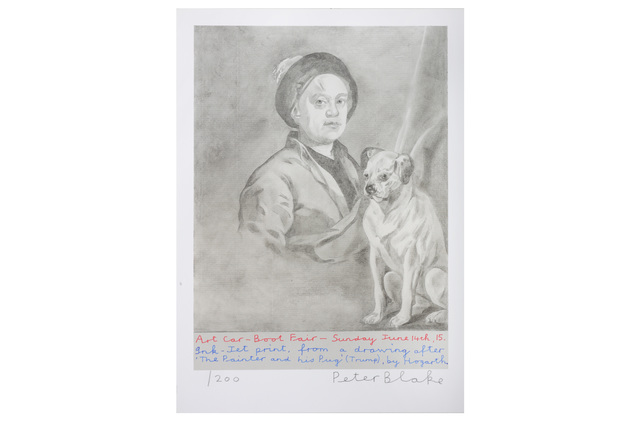 Peter Blake, 'The Painter and his Pug', 2015, Chiswick Auctions