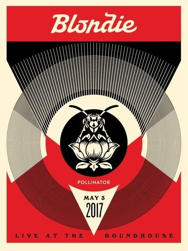 Shepard Fairey (OBEY), 'Live at Roundhouse (Blondie : Polinator album Tour)', 2017, AYNAC Gallery