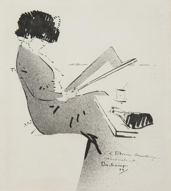 Marcel Duchamp, 'Jeune femme au café parisien', 1909, HELENE BAILLY GALLERY