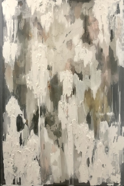 Emma Nourse, 'Fog', 2019, Painting, Oil on silk and glass, 99 Loop Gallery