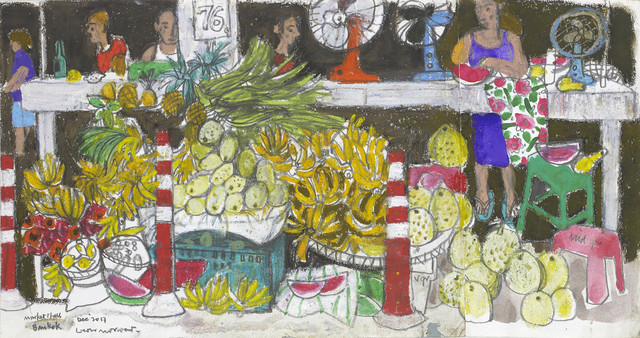, 'Market Stall, Bangkok,' 2017, John Martin Gallery