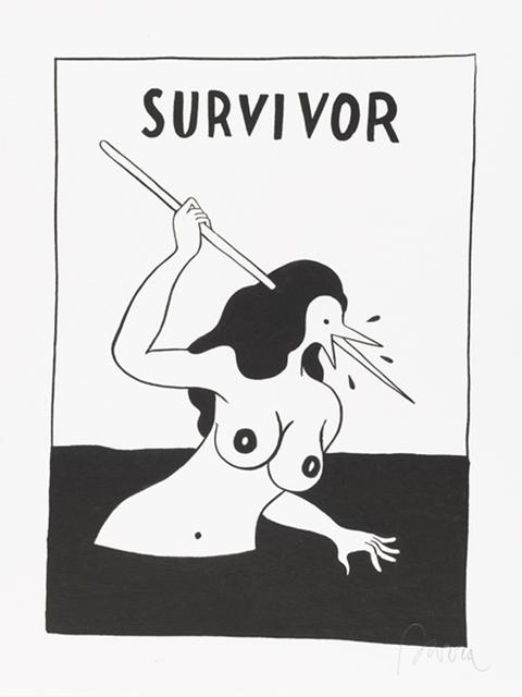 , 'Survivor,' 2012, Jonathan LeVine Projects